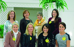 Top row, left to right: Caroline Cain, Karen Brockwell, Laura Page, Lisa Mason, Cindy Comfort, Nancy Avellar, Emily Foster, Julie Walthall Bottom row, left to right: Janie Morrison, Christy Meador, Megan Lindberg, Amy White.