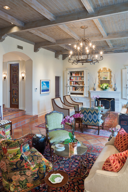 Casual sophistication in a home meant for family is personified in every  detail of the Mediterranean-style residence of Betty and Michael Venson.