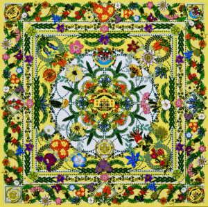 78209 Nov 2015 - Around 09 Battle of Flowers Quilt
