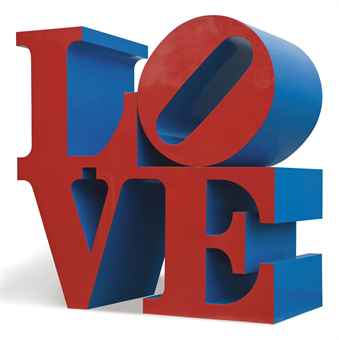robert indiana love red blue d5437589h