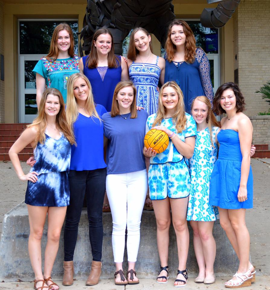 AHHS Girls Water Polo Team included: Kate Ballantyne, Elizabeth Barry, Audrey Cleek, Olivia Connolly, Arianna Davidson, Grace Goen, Emma Hodgson, Iiana Ingamells, Beau Marcott, Abby Mathews, Kate Russell, CJ Scheick, and Celeste Willaims