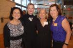 Founders Marie Smith Karen Herrmann Kaye Lenox and board president Suzanne Goudge
