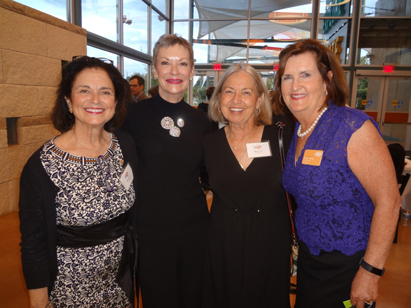 Founders Marie Smith Karen Herrmann Kaye Lenox and board president Suzanne Goudge