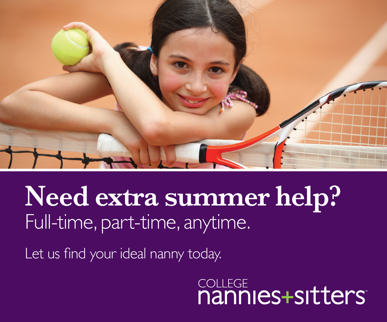 College Nannies + Sitters ad