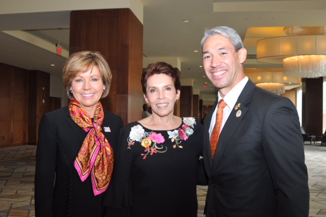 Honoree Sheryl Sculley president and CEO Marta Pelaez and honorary speaker Mayor Ron Nirenberg