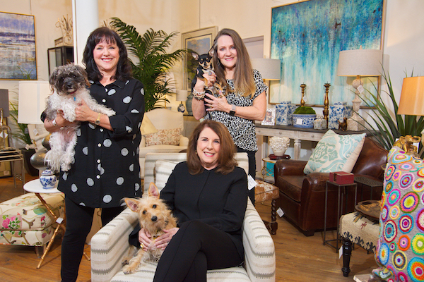 The owners of 5 Broads Off Broadway,  Kathy Scholl and Krys Turner, (seated) Debbie McCullough