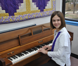 Saint Mary's Hall (SMH) Lower School student and piano phenom