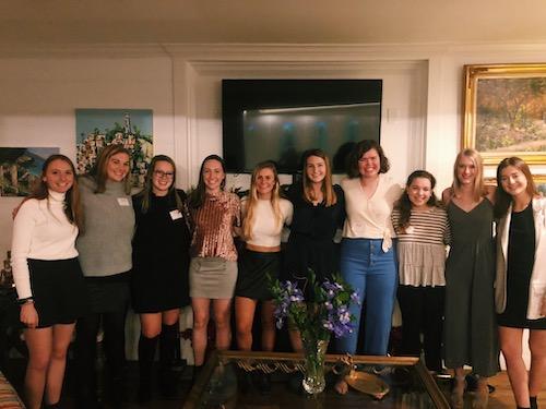 Collegiates-Sally Randolph, Martha Milner, Kathleen Calgaard, Faith Flume, Analiese Wagner, Hannah Shaeffer, Jenna Frey, Anna Catherine Gibbs, McKenzie Schultz, and Paige Gottlieb