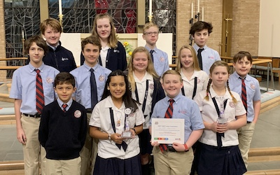 St. Luke's Episcopal School students