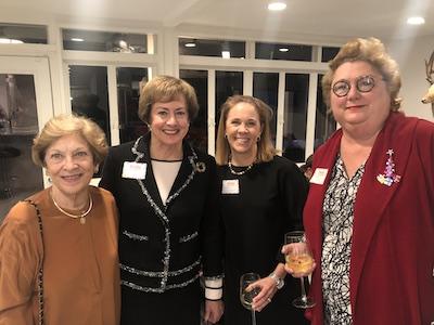 KKG Alumnae Past Presidents- Martha Steves, Susan Chandler, Francie Calgaard, and Charlotte Milner