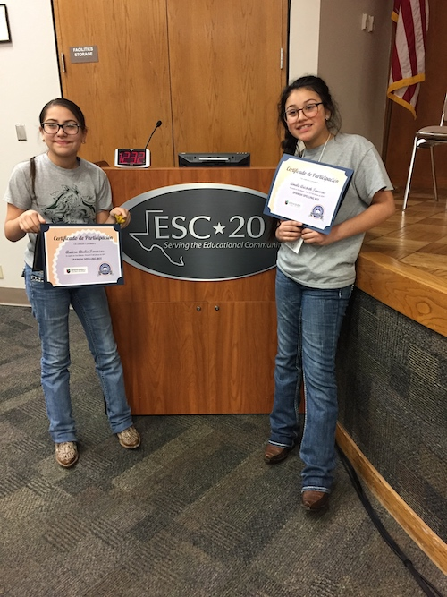 Araiza and Amalie Terrazas Spanish Spelling Bee
