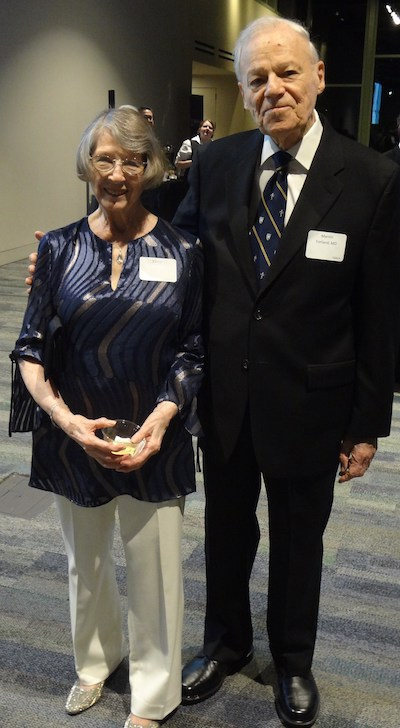 Ellinor and honoree Dr Marvin Forland