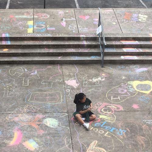 Field Day Chalk Art