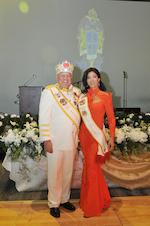 Rey Feo LXXI Dr Salvatore Barbaro III and his wife Jennifer Gabriel Barbaro