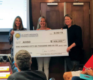 AHSF Presents Check to AHISD 1