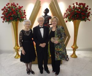 Ellen and Chuck Duvall with museum director Katie Luber