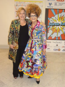 Museum director Katie Luber and ball chair Jenny Schimpff