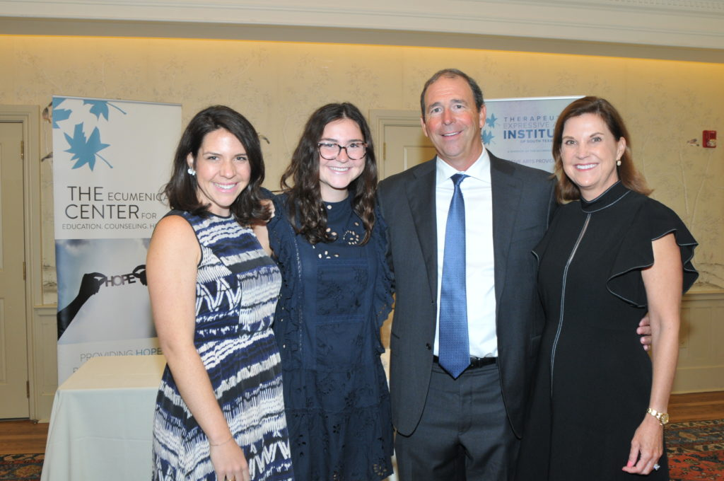 Ellie Rogers Libby Rogers and foundation co chairs Carl and Kelly Fellbaum