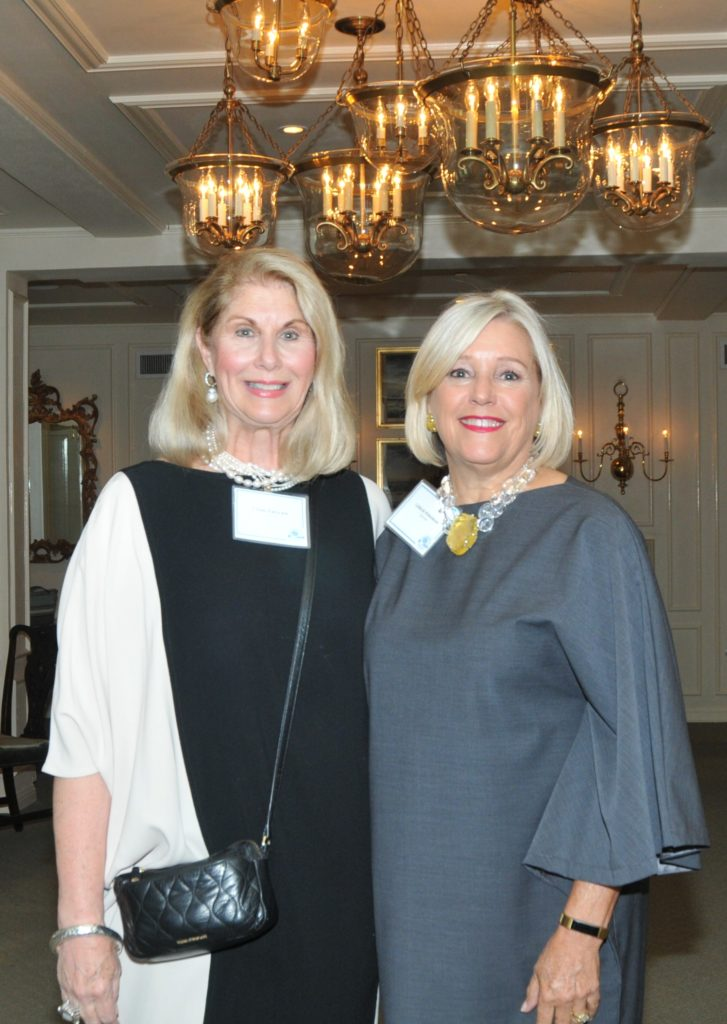 President Lynn Ziegler with board chair Leslie Kingman