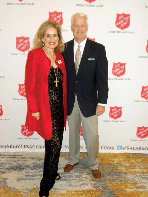 Fashion show chair Catherine Whitsett and emcee Mike Osterhage