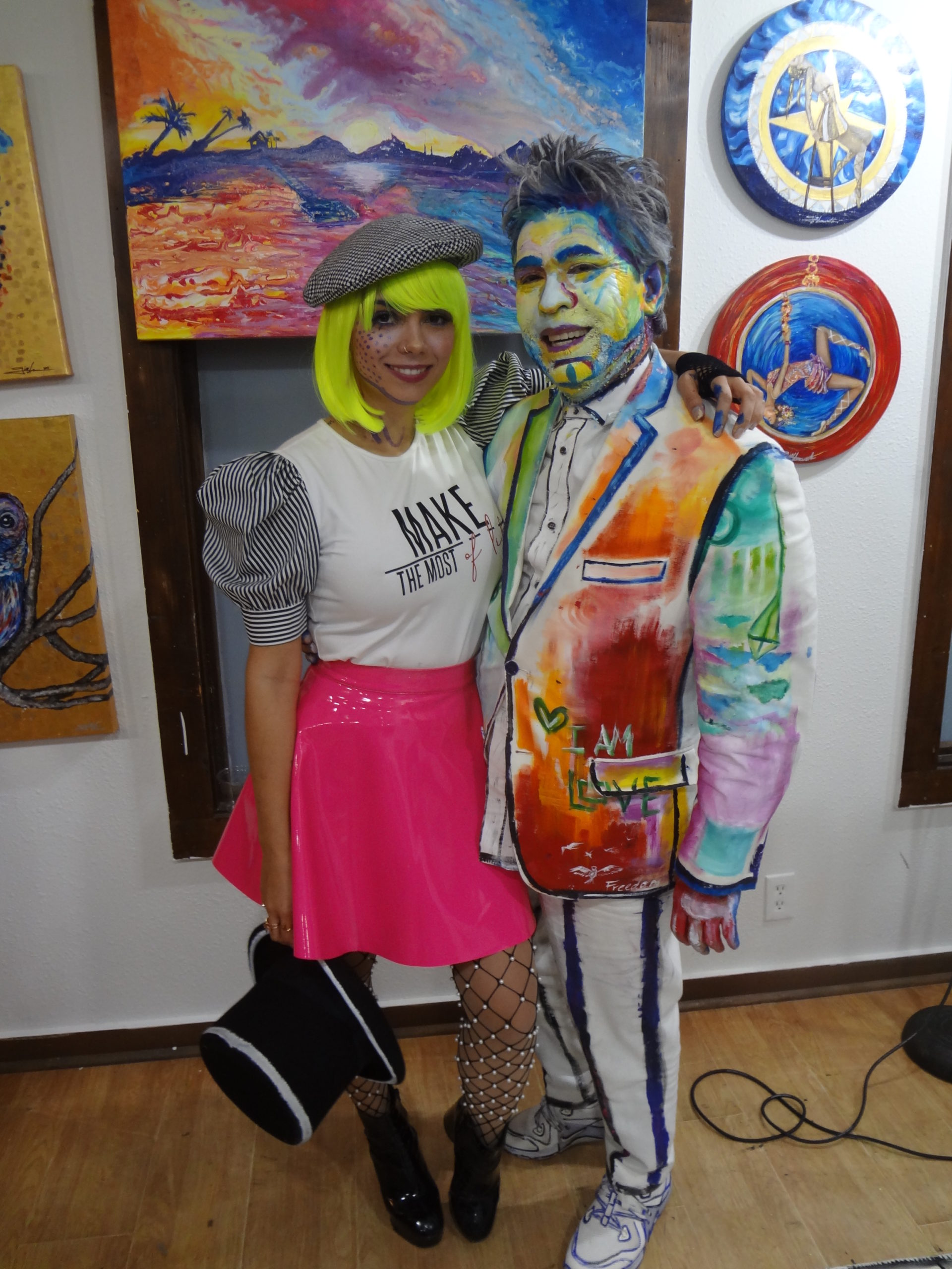 Artist Giovanna DiZurita and Michael Quintanilla