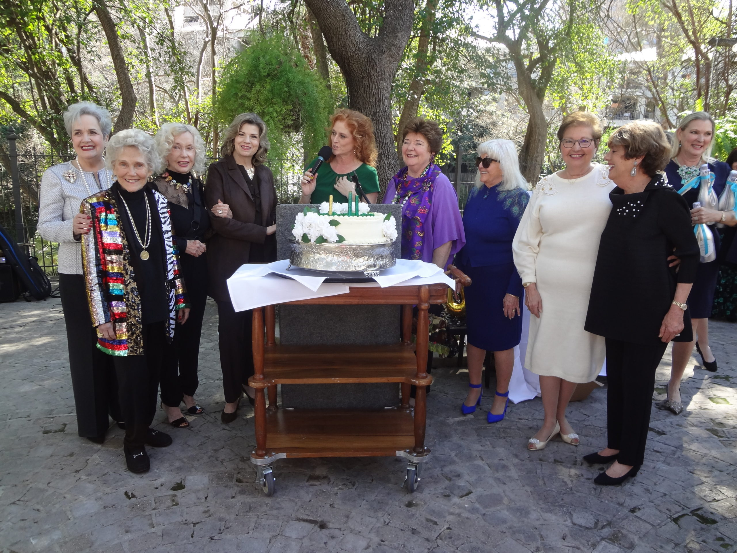 Past Presidents in attendance included Veronica Boldt Rose Marie Banack DeeAnn Simpson Carolina Canales Siobhain Anders Nancy Marion Joan Gaither Liz Jauer and Mertie Wood