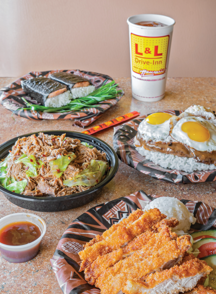 L&L Hawaiian dishes