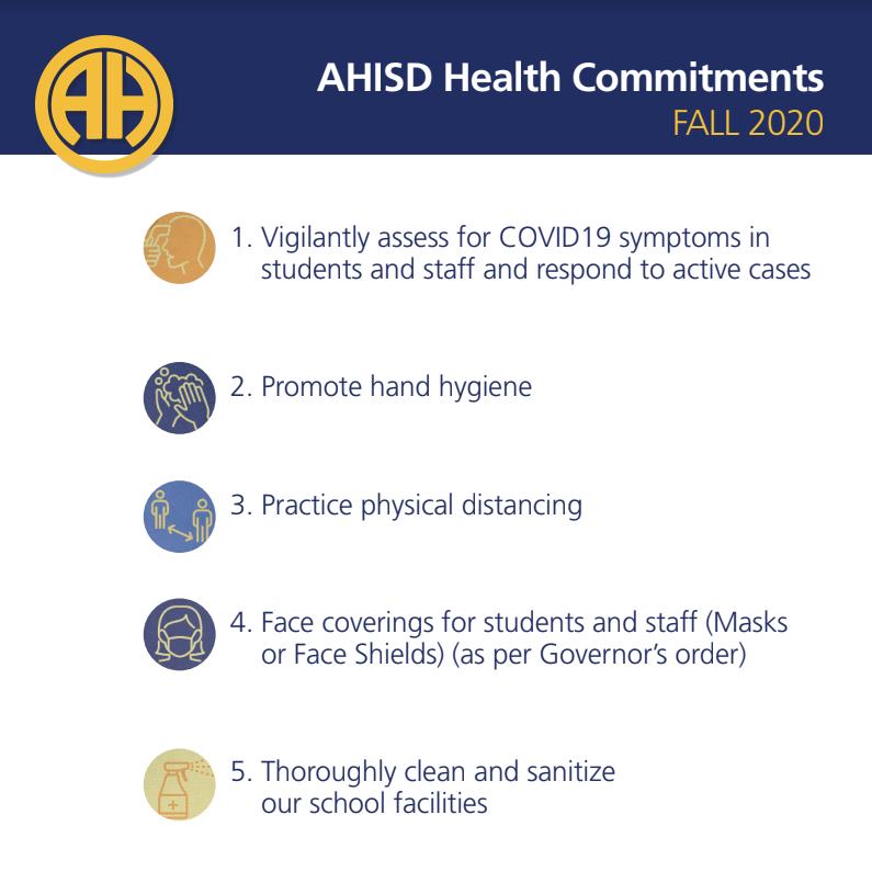 AHISD Health Commitments Fall 2020