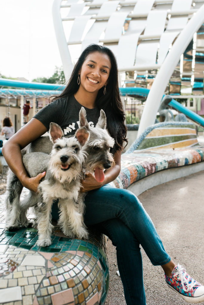Stephanie Garza is a new local entrepreneur running her first pup business, Pup, Pup and Away! The pandemic put a monkey wrench into her young business, but she has kept her doors open, nonetheless.